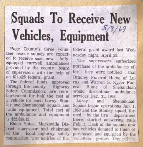 LVRS New Equipment in Newspaper - 1969-05-08